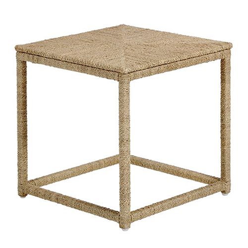 Wells Natural Seagrass End Table