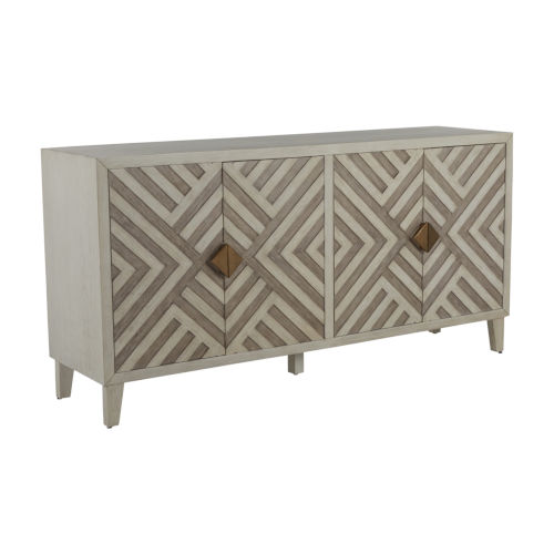 Molena Sesame White and Antique Gray Cabinet