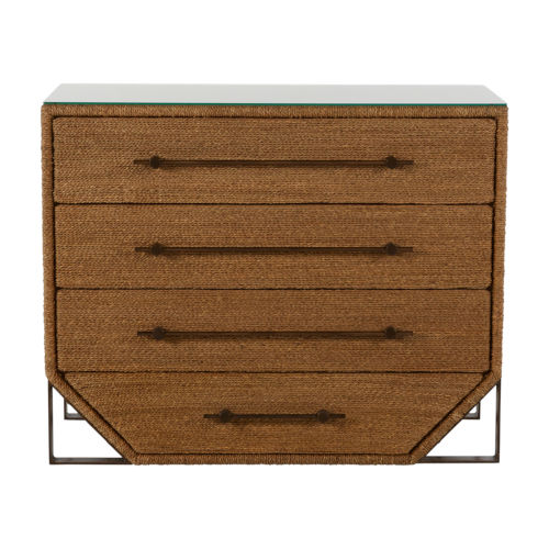 Chase Natural Seagrass and Antique Bronze 40-Inch Chest