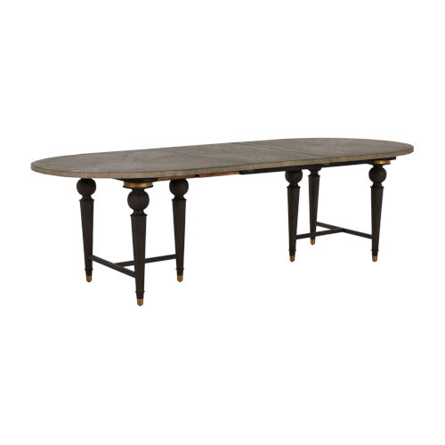 Roderick Light Blonde and Dark Brown Dining Table