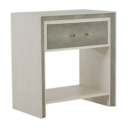 Alford White and Gray Nightstand