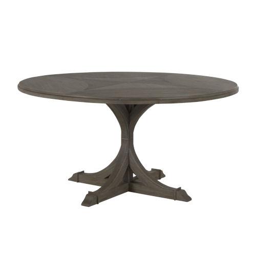 Adams Vintage Gray Round Dining Table