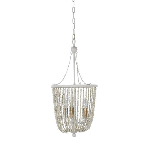 Jenny Coral White Chandelier
