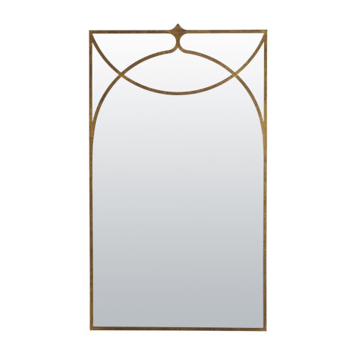 Swan Textured Champagne Wall Mirror