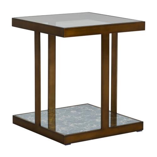 Jess Mountain Brass Side Table