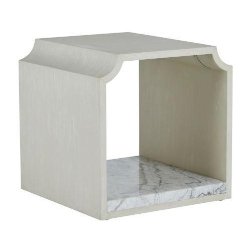 Ceci Cerused White Side Table