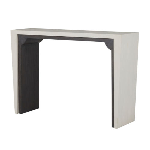 Seca Cerused White and Cerused Black Console Table