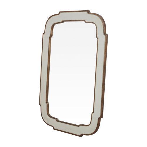Joanie Antique White 40-Inch Mirror
