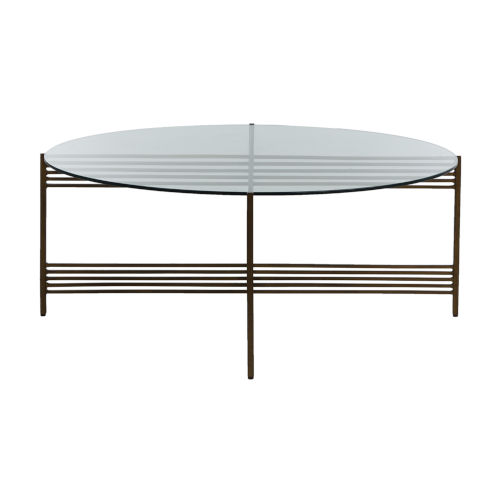 Tanner Antique Brass Coffee Table