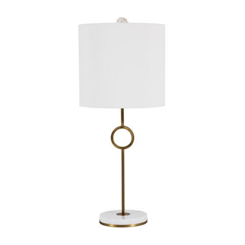 Kerry Matte Antique Brass One-Light Table Lamp