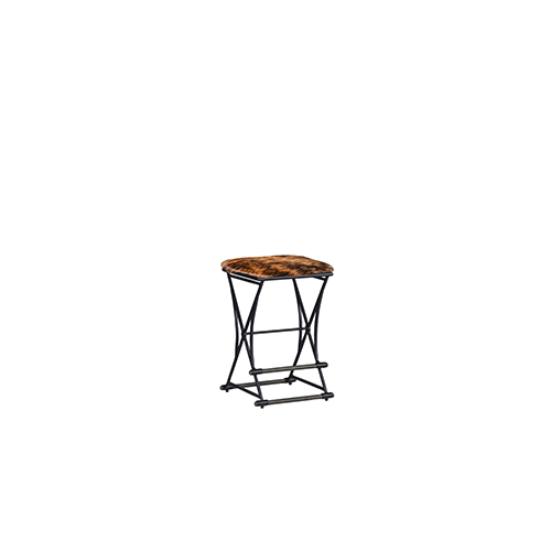 Gabby Home Shields Cerused Oak and Soft Black Iron 16-Inch Barstool