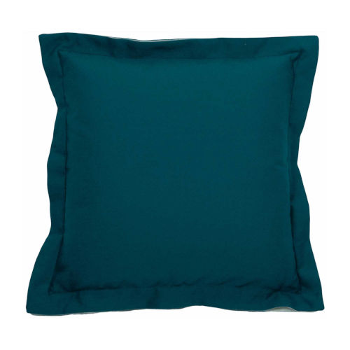 Premier Reef and Snow 17 x 17 Inch Pillow with Linen Double Flange