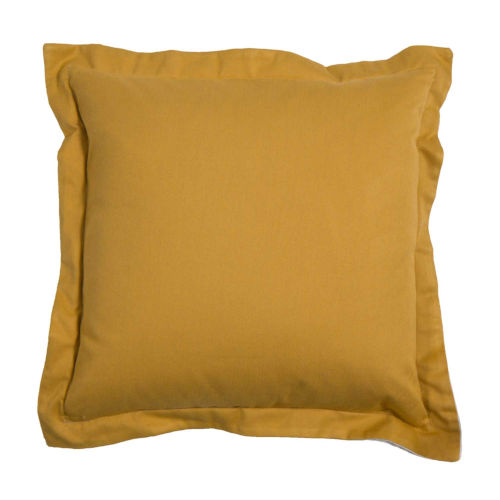Premier Mustard 17 x 17 Inch Pillow with Linen Double Flange