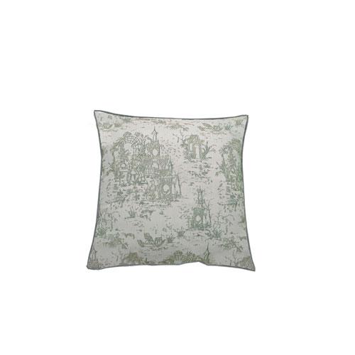 Osaka Toile 20-Inch Mist Throw Pillow