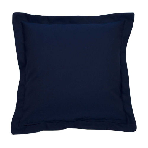 Indigo and Snow 20 x 20 Inch Pillow with Double Flange