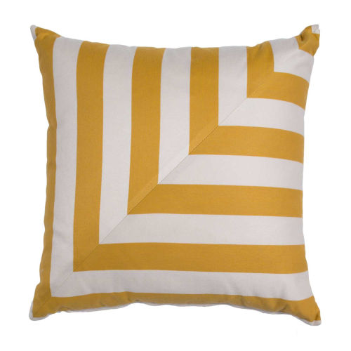 Halo Mustard 20 x 20 Inch L-Stripe Pillow with Knife Edge