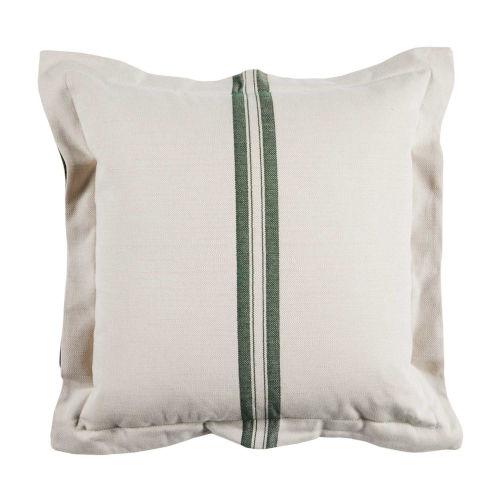 Vintage Stripe Mallard 20 x 20 Inch Pillow with Double Flange