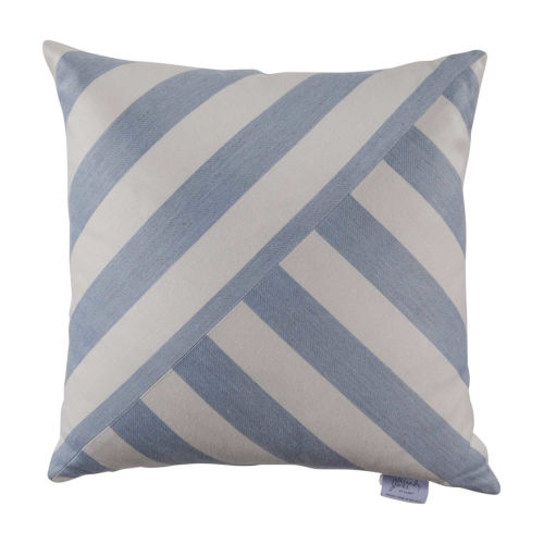 Halo Chambray 20 x 20 Inch T-Stripe Pillow with Knife Edge