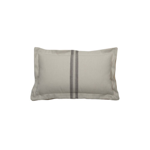 Vintage Stripe 22-Inch Pewter Throw Pillow