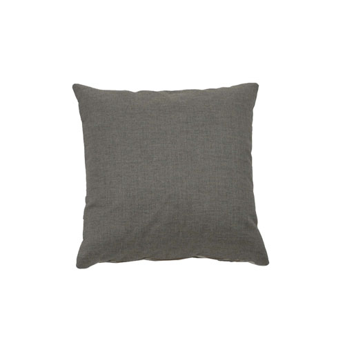 Fortune 22-Inch Pewter Throw Pillow