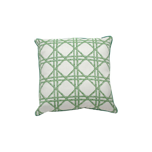 Reign 22-Inch Emerald Throw Pillow