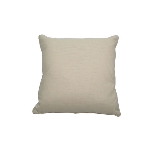 Manado Ikat 22-Inch Almond and Midnight Throw Pillow