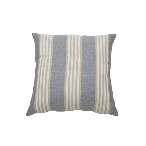 Bradford Stripe 22-Inch Almond and Pewter Throw Pillow