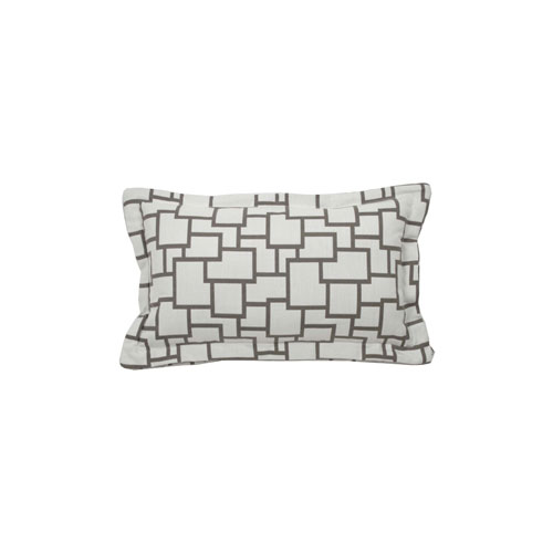 Magnitude 22-Inch Pewter Throw Pillow