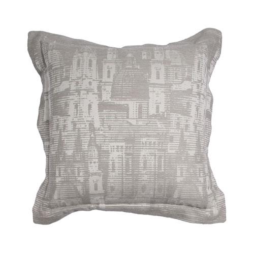 City Skyline 22-Inch Almond Throw Pillow