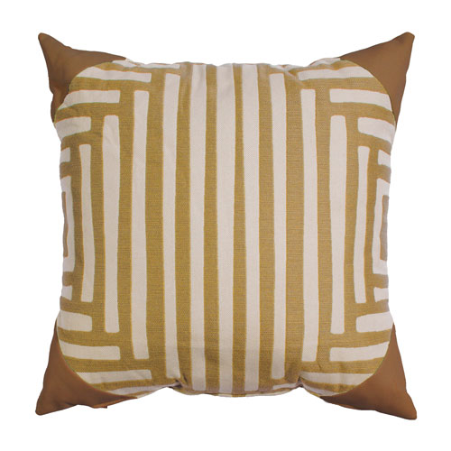 Kubu Mustard Throw Pillow