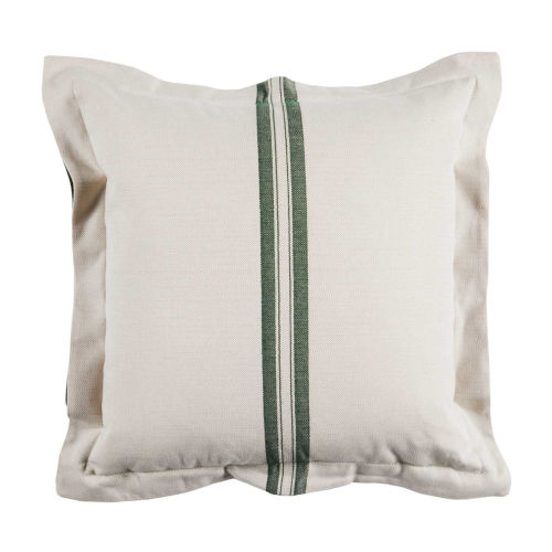 Vintage Stripe Mallard 22 x 22 Inch Pillow with Double Flange