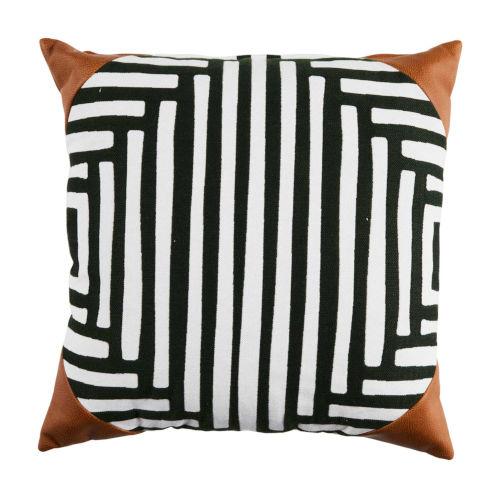 Kubu Mallard and Snow 22 x 22 Inch Pillow with Corner Cap