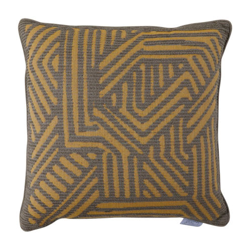 Grooves Mustard 22 x 22 Inch Pillow