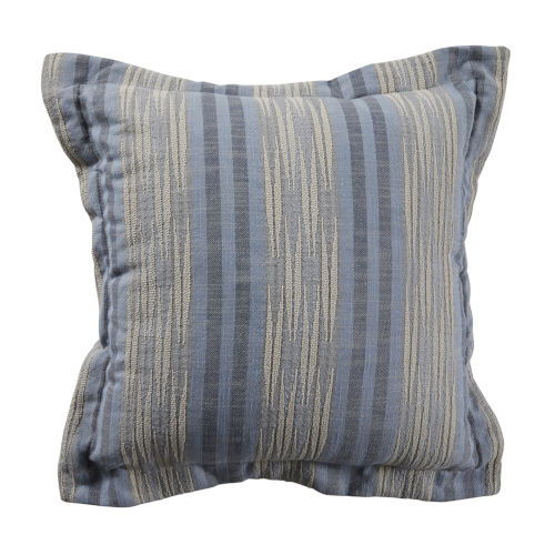 Calmer Chambray and Stone 22 x 22 Inch Pillow with Double Flange