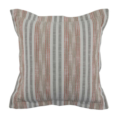 Calmer Terra Cotta and Stone 22 x 22 Inch Pillow with Double Flange