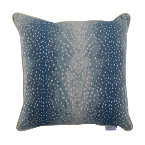 Fawn Chambray 22 x 22 Inch Pillow with Mohave Welt