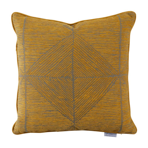 Mandla Mustard 22 x 22 Inch Pillow with Welt