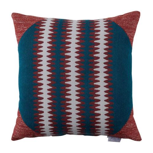 Squiggle Cajun 22 x 22 Inch Pillow with Corner Cap