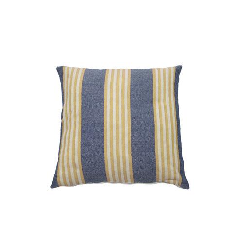Bradford Stripe 24-Inch Mustard and Indigo Throw Pillow