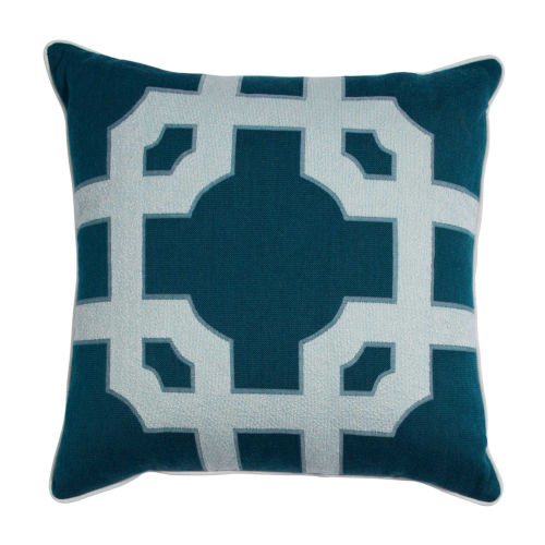 Fortune Reef and Snow 24 x 24 Inch Pillow with Linen Welt