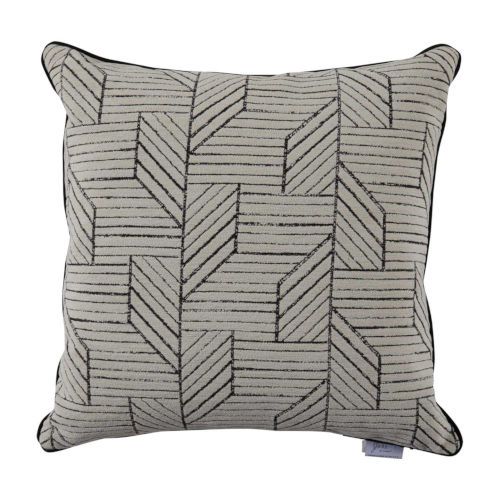Thisbee Midnight 24 x 24 Inch Pillow with Linen Welt