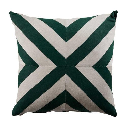 Halo Mallard and Almond 24 x 24 Inch X-Stripe Pillow with Knife Edge