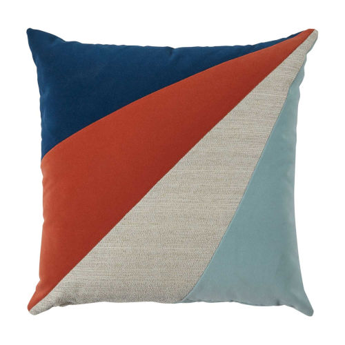 Rays Sunset Multicolor 24 x 24 Inch Pillow with Knife Edge