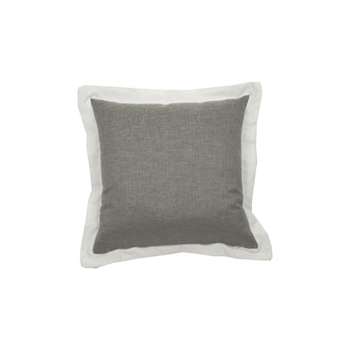 Spotty 24-Inch Pewter Throw Pillow