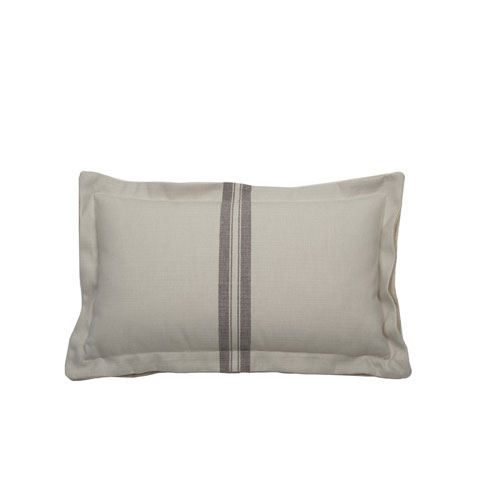 Vintage Stripe 24-Inch Pewter Throw Pillow