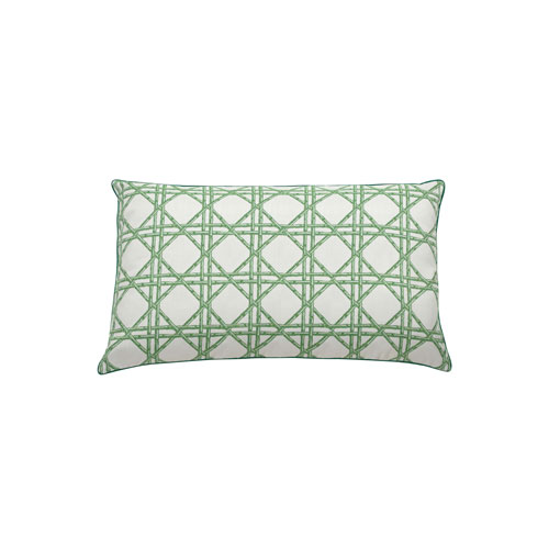 Reign 24-Inch Emerald Geometric Throw Pillow