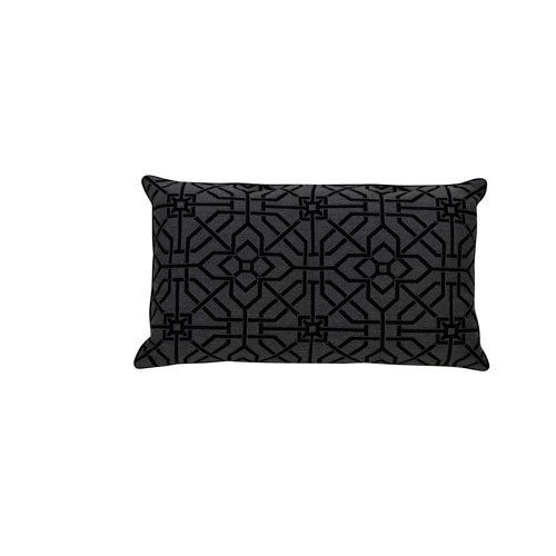 Port Palace 24-Inch Midnight Geometric Throw Pillow
