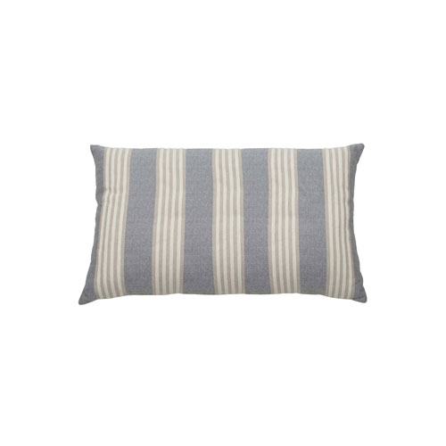 Bradford Stripe 24-Inch Almond and Pewter Rectangle Throw Pillow