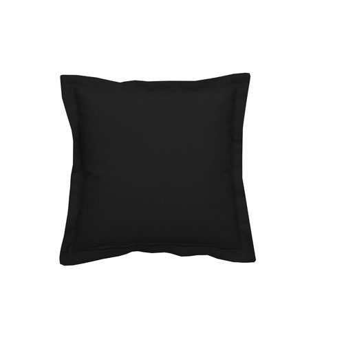 Linen Midnight 24-Inch Midnight Square Throw Pillow