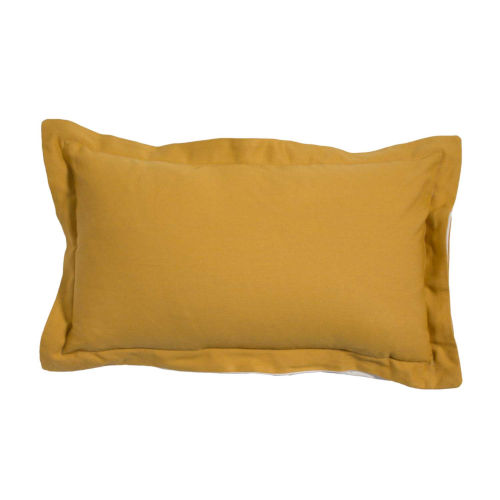 Premier Mustard 14 x 24 Inch Pillow with Linen Double Flange
